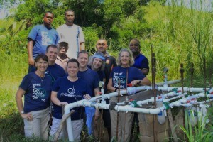 Give Clean Water volunteers and locals in Nadi, Fiji.